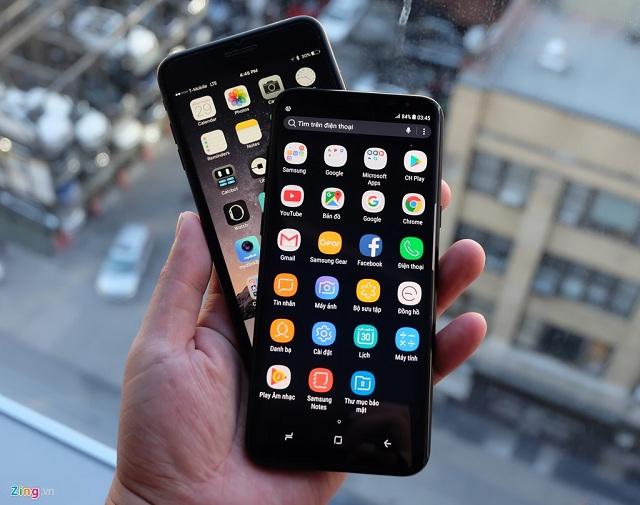 samsung galaxy s8 plus va iphone 7 plus 2