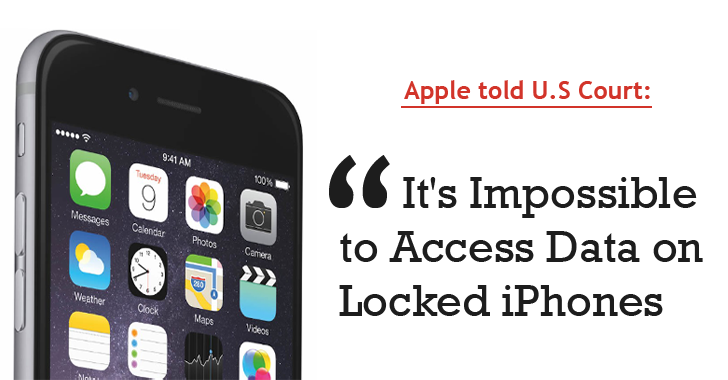 Apple told Judge: It's Impossible to Access Data on Locked iPhones