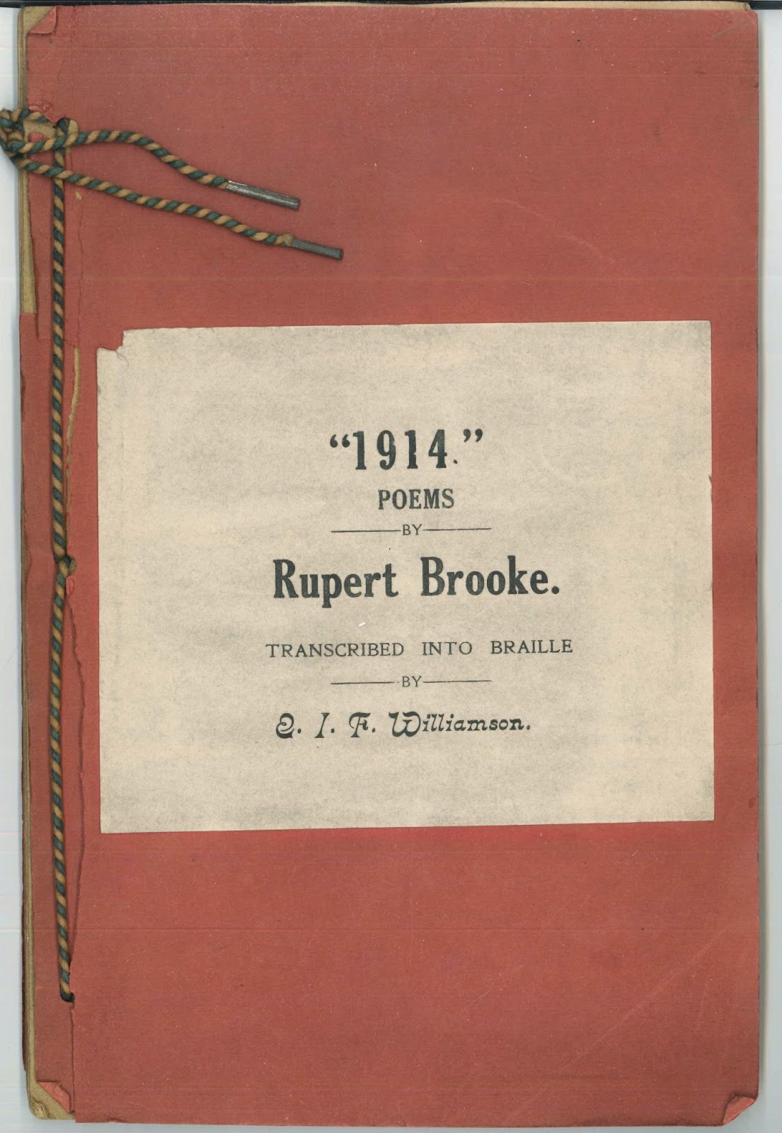 The paper cover for Brooke's poems.
