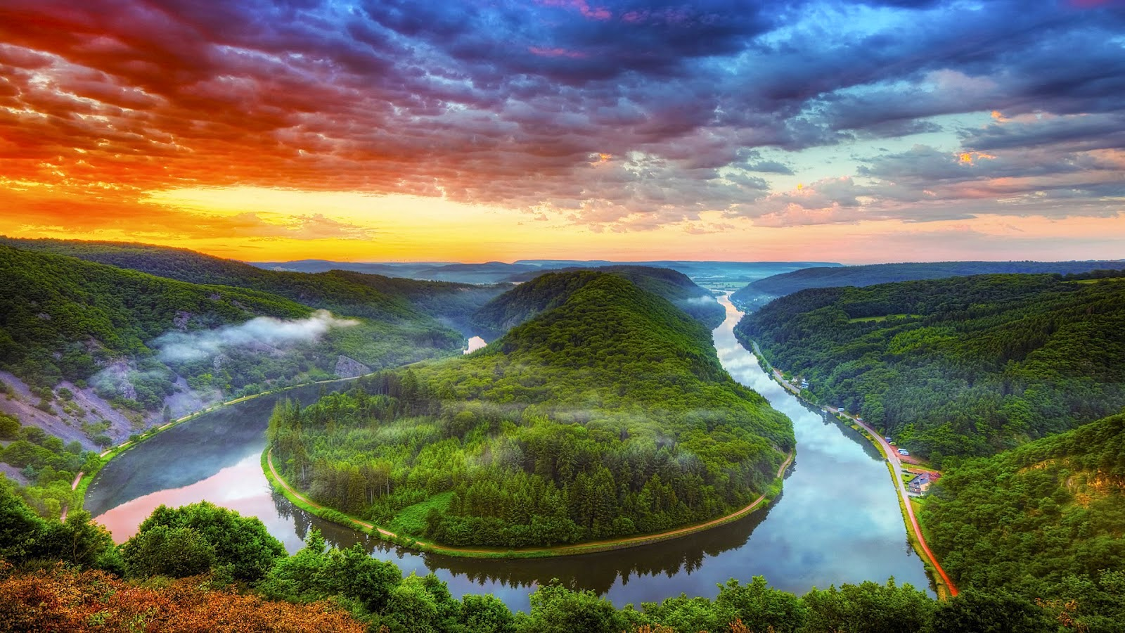 saar river near saarlouis full HD nature background wallpaper for laptop widescreen