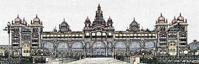 Reference Mysore palace image for wall decal