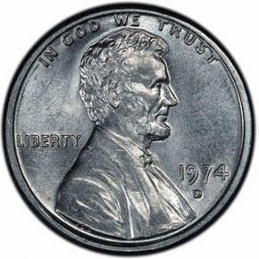 1974-D Aluminum Lincoln Cent to be auction | Lunaticg Coin