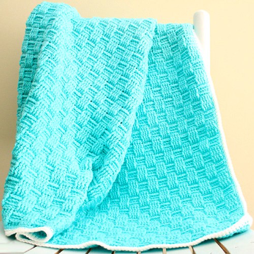 Basketweave Baby Blanket - Free Pattern