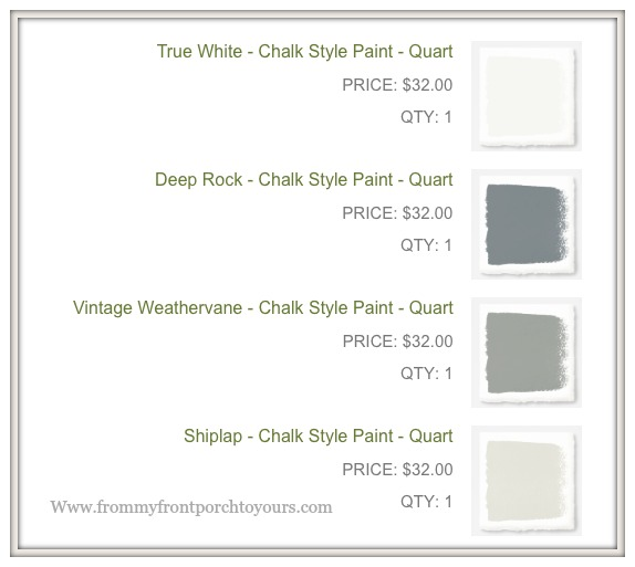 Vintage Fireplace Mantel Makeover-Magnolia Home Chalk Style PaintColors-Review--From My Front Porch To Yours