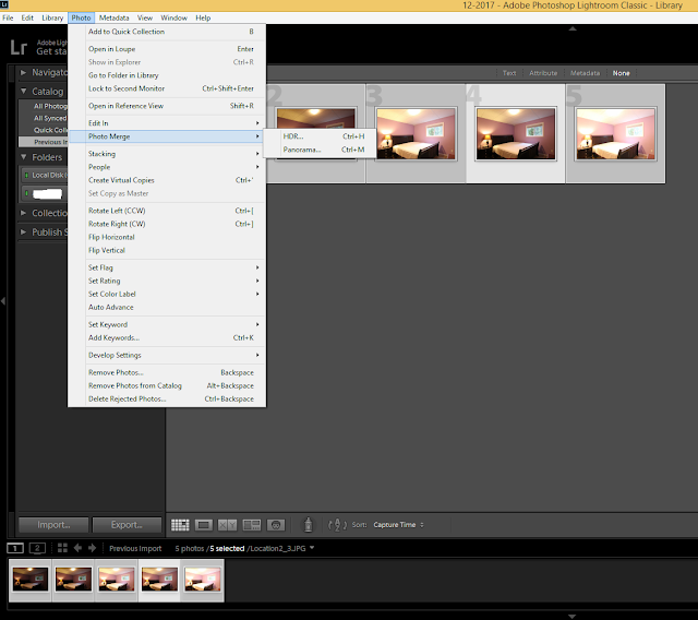 Lightroom setting HDR photography