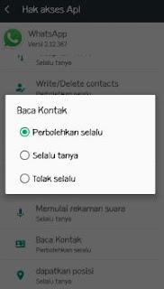 cara mengatasi sKontak Tidak Terbaca di WhatsApp