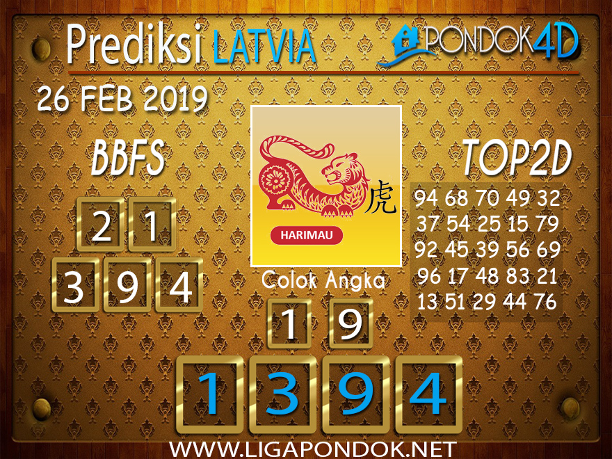 Prediksi Togel LATVIA PONDOK4D 26 FEBRUARI 2019