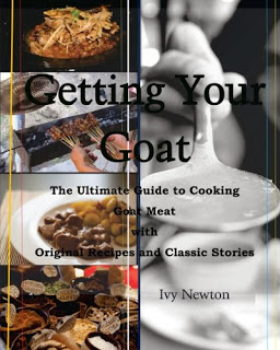 cover art: serving dishes, cooking goat