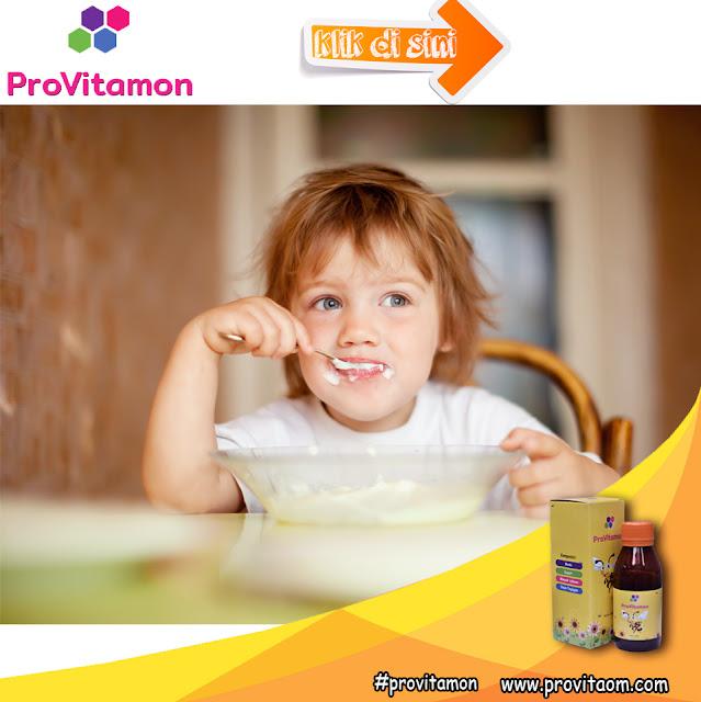 Mengatasi anak susah makan Dengan Minum Provitamon