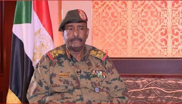 الفريق أول عبد البرهان رئيس المجلس العسكري السونادي يتقدم بجزيل الشكر للسعودية والإمارات ومصر لدعمها دولة السودان