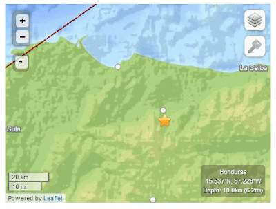 Honduras earthquake 04-10-13
