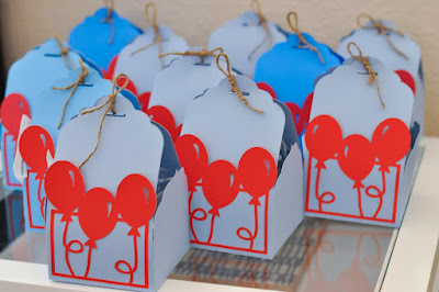 Birthday favor boxes up up and away theme
