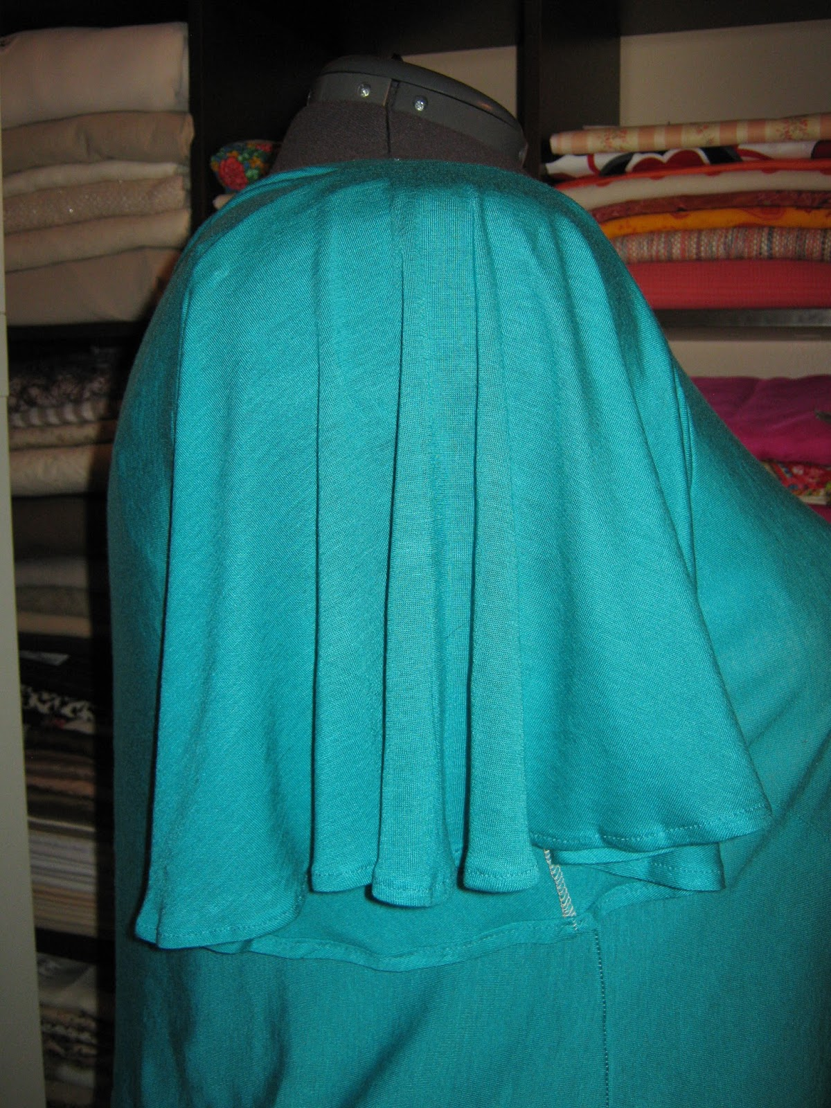 Jersey Knit Sewing Patterns : Sew Plus: Teal Jersey Knit Flutter Sleeve Top