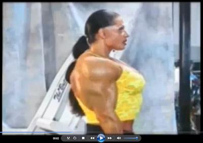 Clip female Bodybuilding Big biceps