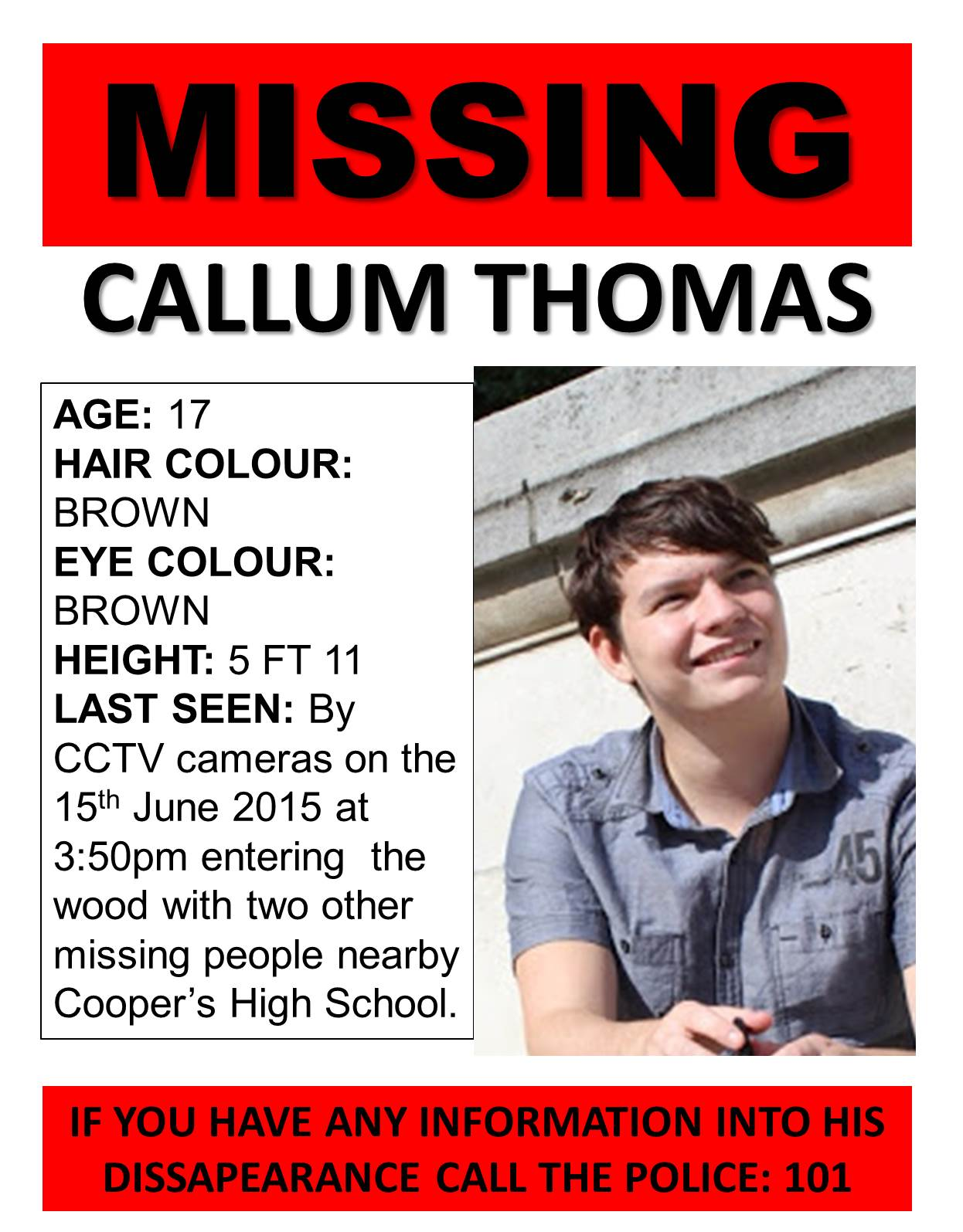 Lucy Day A2 Media Coursework Creating Missing Signs – Missing Person Poster Template