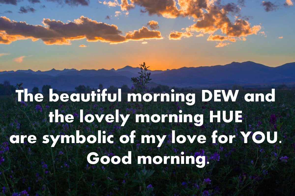 good morning picture of nature with quotes