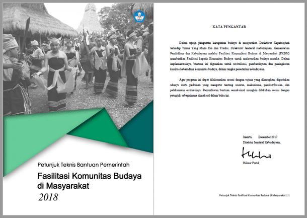 Juknis Bantuan Pemerintah Fasilitasi Komunitas Budaya Masyarakat 2018