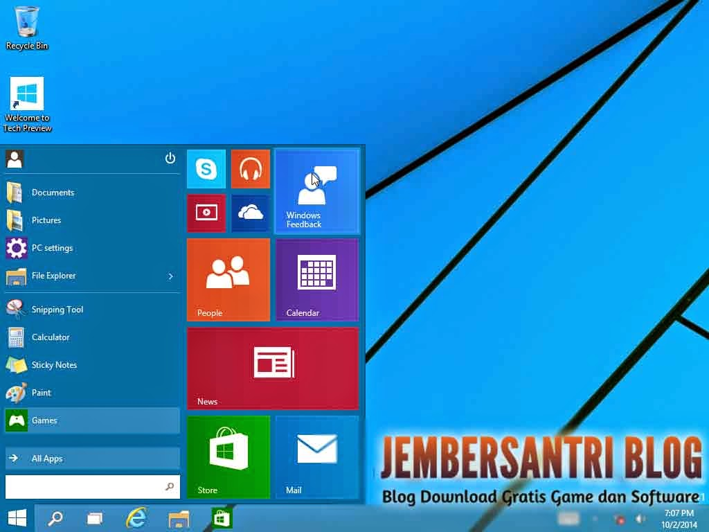 Windows 10 Technical Preview x86/x64