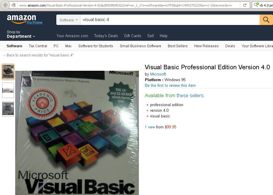microsoft visual basic professional edition version 40