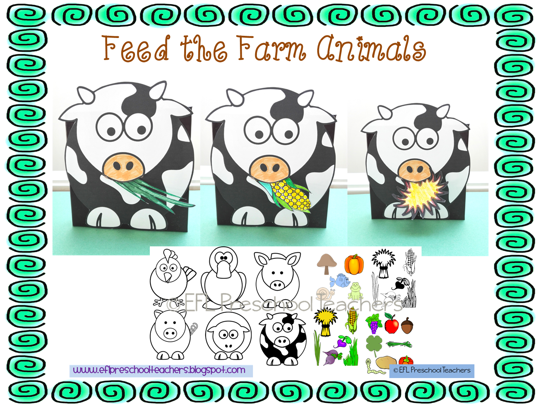 Esl Efl Preschool Teachers Farm Animals Theme For Preschool Ell