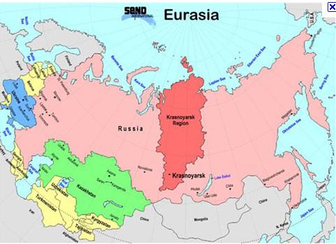 Resultado de imagen de Krai de Krasnoyarsk map