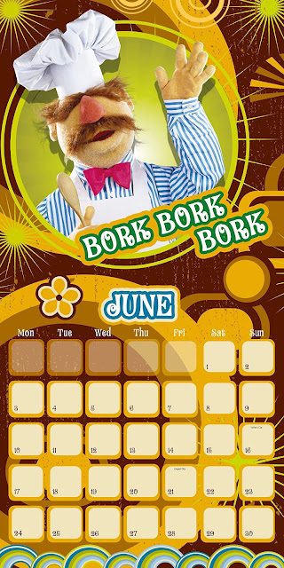 The Swedish Chef greets you, Bork Bork Bork, on his page of the 2019 calendar.