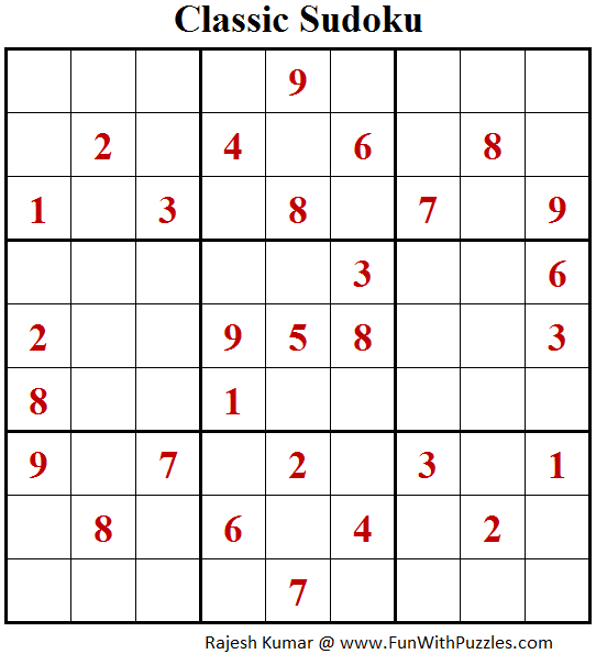 Original Sudoku (Fun With Sudoku #171)