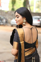 Poorna in Cute Backless Choli Saree Stunning Beauty at Avantika Movie platinum Disc Function ~  Exclusive 048.JPG