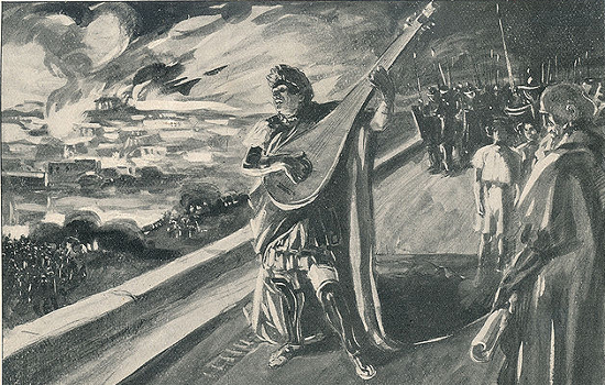 """Nero and the burning of Rome"" by M. de Lipman. (1897)"