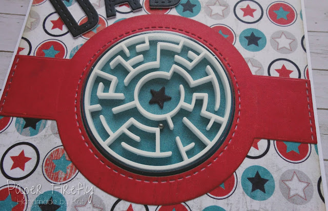 Father's Day card using MFT a-maze-ing stamps and co-ordinating 3D maze elements