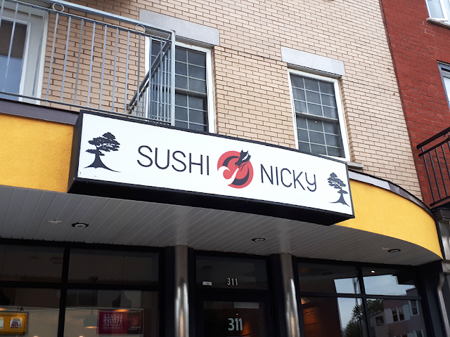 Nicky Sushi Limoilou rivière à sushis