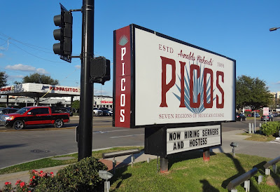 PICOS Now Hiring Servers and Hostess (sign on corner of Kirby and Richmond)