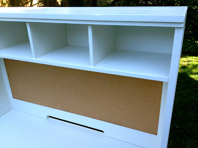 desk hutch refinished