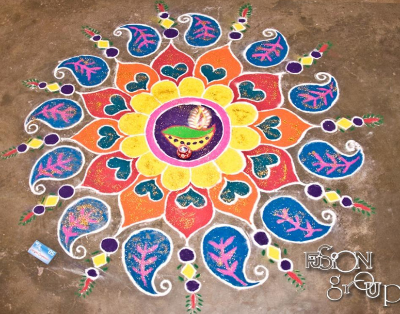 best rangoli designs for sankranti festival 2012