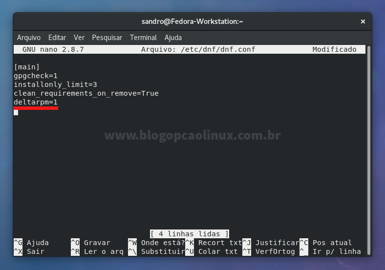 Habilitando o delta RPM no Fedora 27 Workstation
