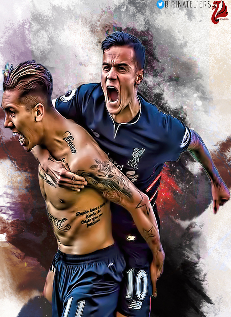 Bipinateliers Philippe Coutinho And Roberto Firmino Mobile Wallpaper