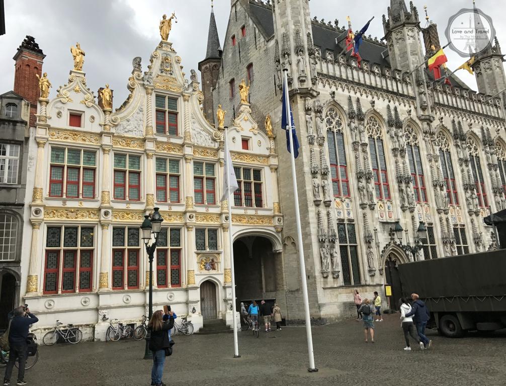 Burg Square a Stadhuis ou Prefeitura Bélgica