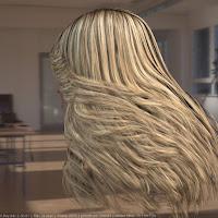 Madonna singer head photorealistic female 3D model