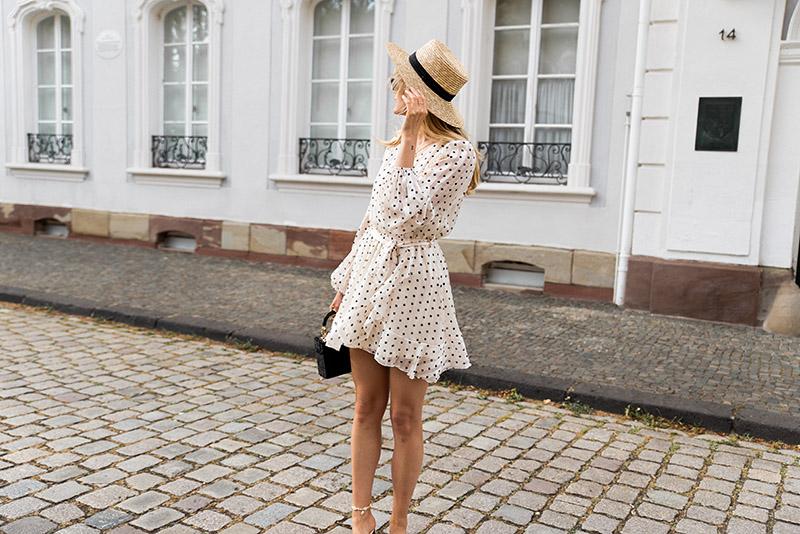 Robe à pois Loavies chapeau de paille H&M