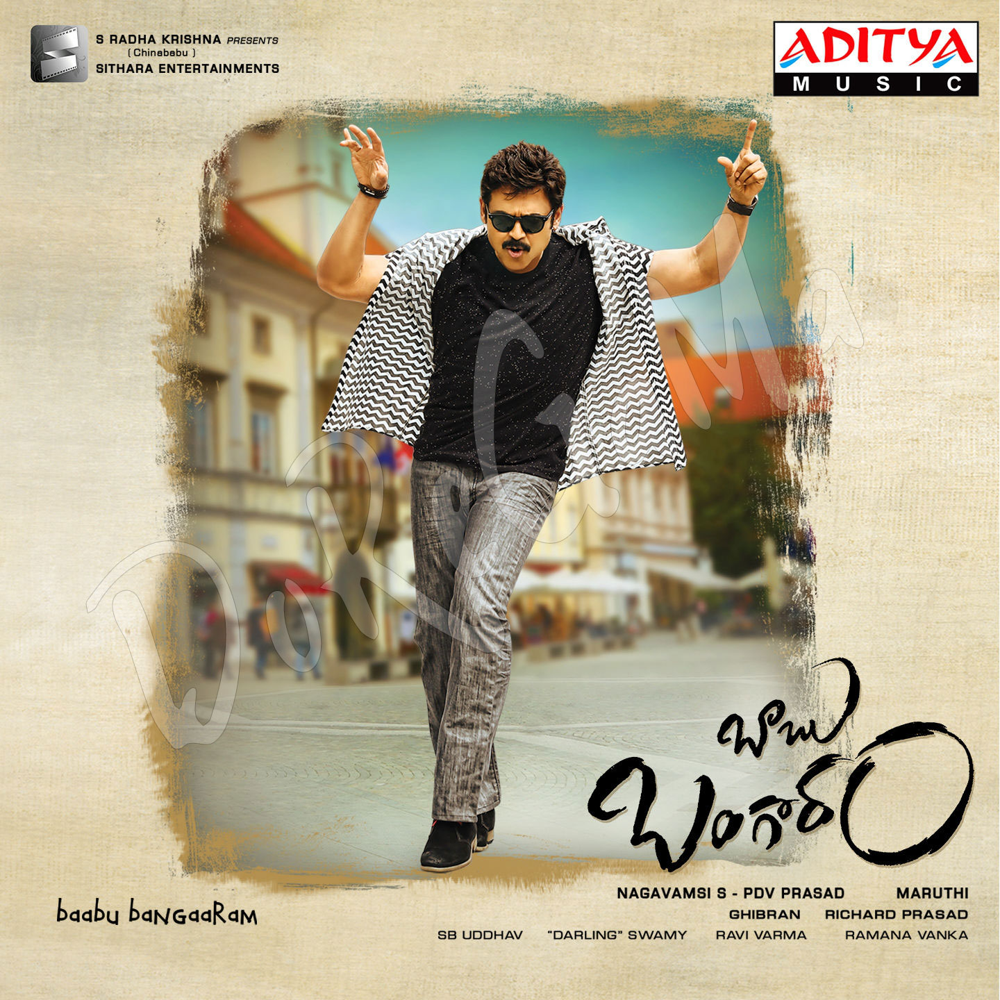 Babu-Bangaram 2016 Telugu CD Front Cover HD