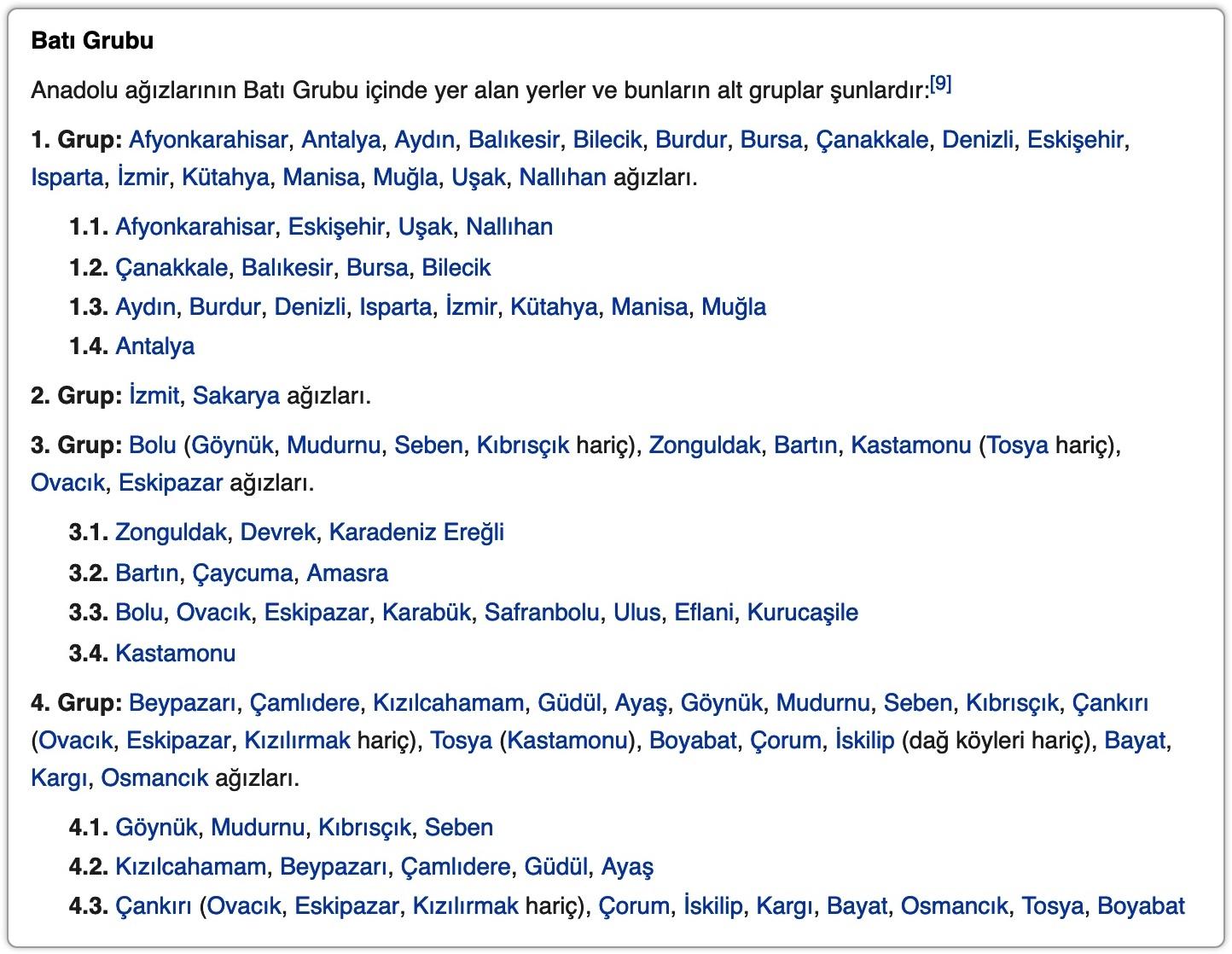 Ölçünlü (Standart) Türkçe ve ağızlar ile ilgili görsel sonucu
