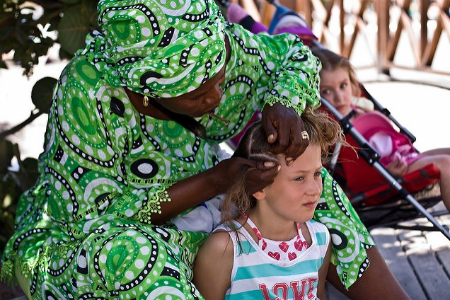 Hair braiding love in Senegal Africa