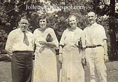 1934 Reunion Lewis Lloyd Jollett, Sallie Clift, Alda Clift, Wilson Suite
