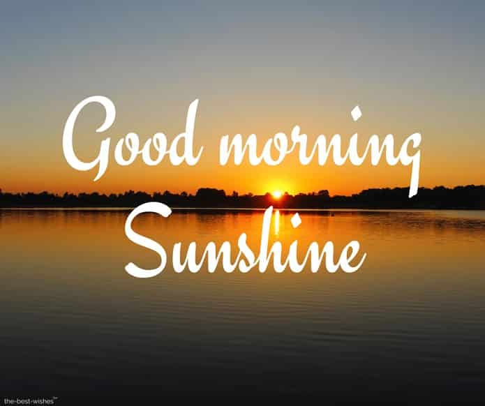 awesome good morning sunshine images