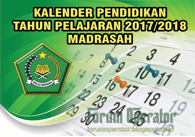 Download Kalender Pendidikan Madrasah Tahun 2017/2018