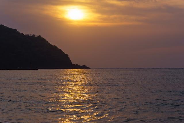多々良北浜海岸(南房総市)の夕景