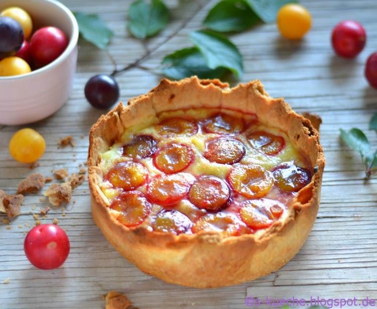 Pudding Pflaumen Tarte