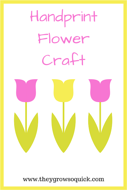 Handprint flowers craft