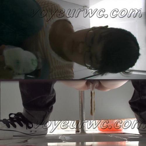 College girls pooping in toilet hidden camera (Chinavoyeur Shit Toilet 13)