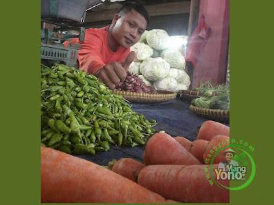 Cabe Rawit Ijo Mulai Bersahabat di Pasar Pabuaran, Kab. Subang